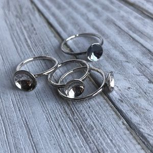 ONE Handmade Oxidized Sterling Silver Cup Ring